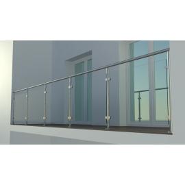 Balustrada szklana na słupkach SATYNA + SZKŁO VSG