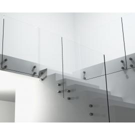 Balustrada schodowa szklana KOMPLET ROTULE