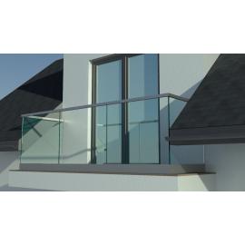 Balustrada szklana tarasowa-balkonowa KOMPLET LISTWA