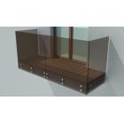 balustrada szklana na antresole