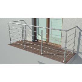 Balustrada ze stali nierdzewnej INOX - KOMPLET SYSTEM BOLEC