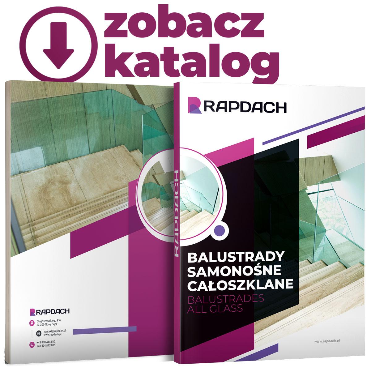 balustrady szklane katalog rapdach