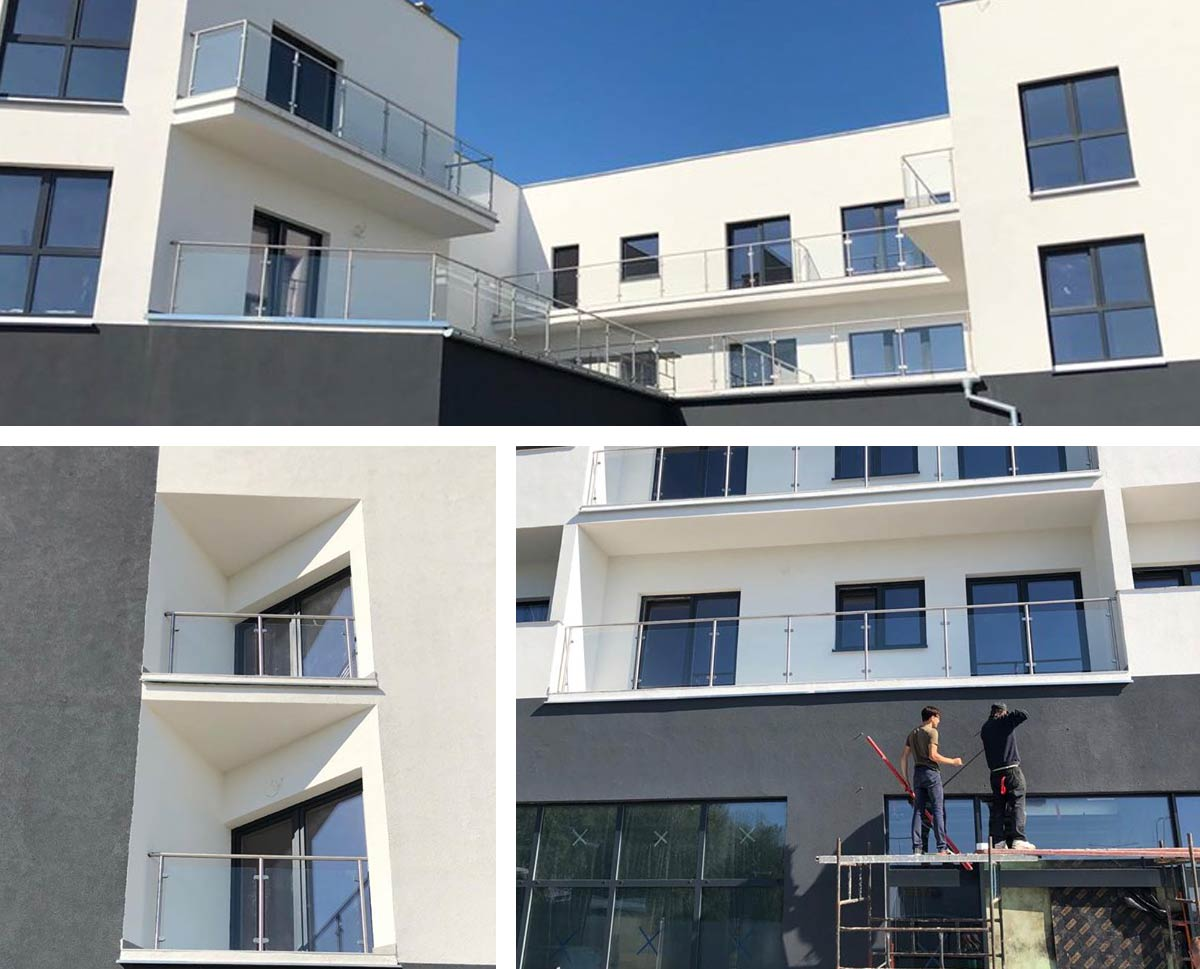 balustrady balkonowe blok