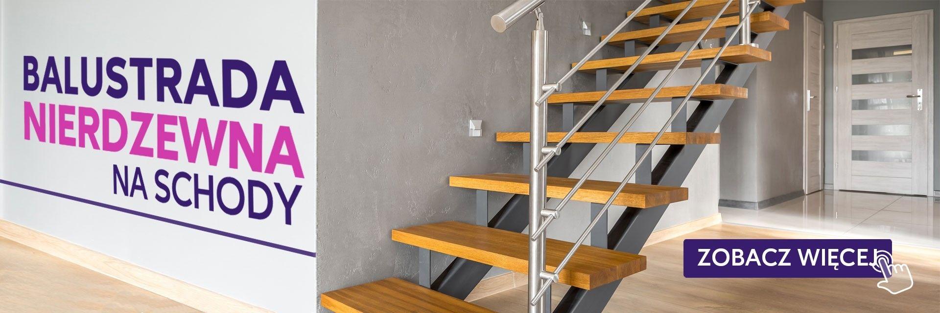 balustrada nierwdzewna na schody